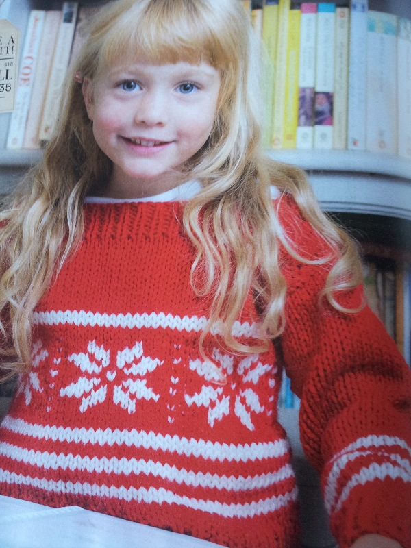 snowflake jumper issue 29 Craftseller
